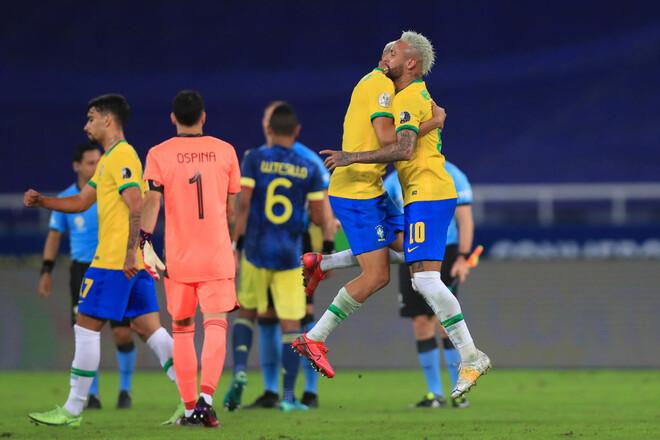 Бразилия – Колумбия – 2:1. Видео голов и обзор матча