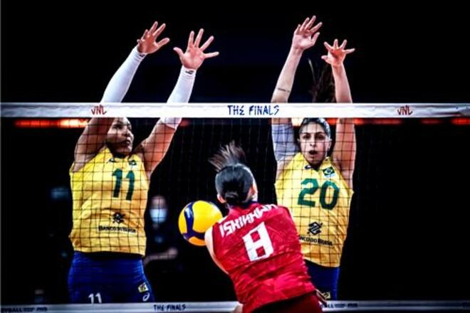В финале женской Лиги наций сыграют сборные Бразилии и США