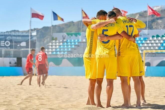 Украина вышла на чемпионат мира по пляжному футболу, переиграв Швейцарию