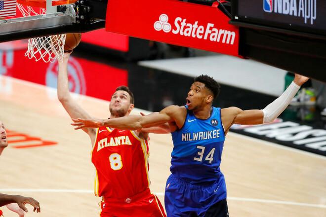 НБА. 71 очко от Миддлтона и Адетокумбо помогли Милуоки обыграть Атланту