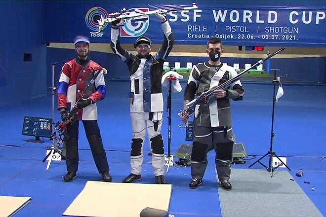 Украинцы взяли медали на Кубке мира по пулевой стрельбе