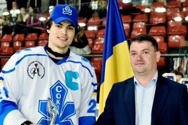 Молодой защитник Сокола выбран на драфте Канадской хоккейной лиги