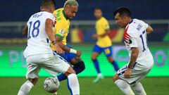 Бразилия – Чили. 1/4 финала Кубка Америки. Смотреть онлайн. LIVE трансляция