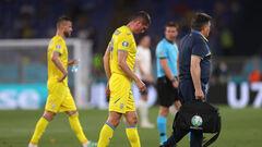 Кривцов получил травму в матче с Англией. Его заменил Цыганков