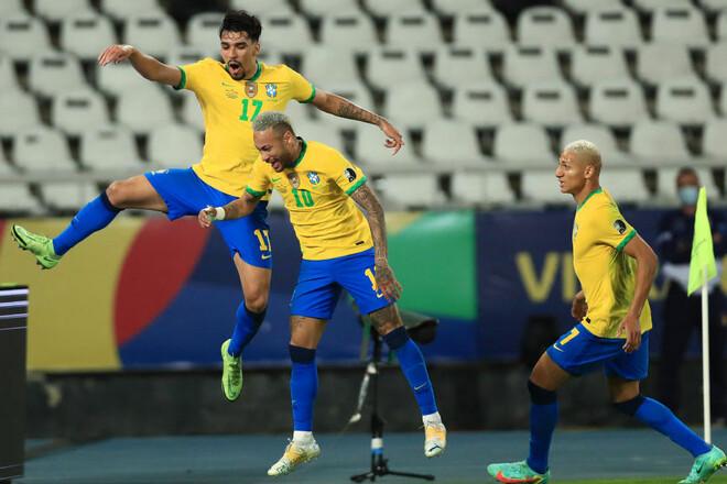 Бразилия – Перу – 1:0. Неймар отдал голевую. Видео гола и обзор матча