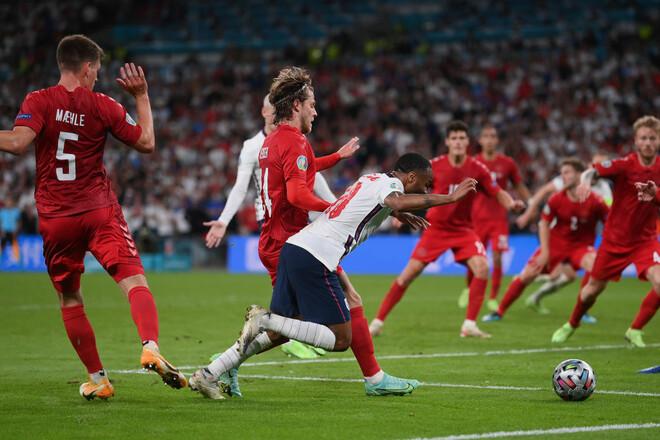 С привкусом скандала. Англия вырвала победу у Дании в дополнительное время