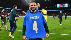ФОТО. Инсинье посвятил победу над Испанией травмированному Спинаццоле