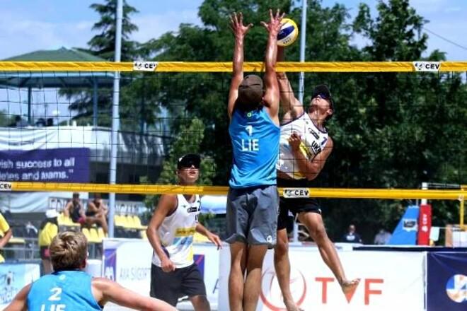 На Евро U-20 по пляжному волейболу украинцы до медалей не добрались