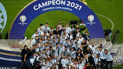 ФОТО. Долгожданный трофей для Месси. Сборная Аргентины взяла Кубок Америки