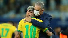 Тите недоволен. Тренер Бразилии раскритиковал Копа Америка и Аргентину