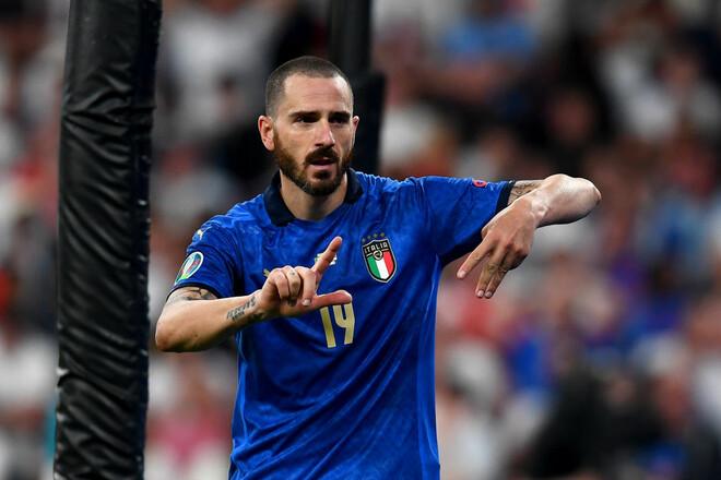 Расшифровано, что означал жест Бонуччи после гола в финале Евро-2020