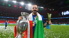 ВИДЕО. Реакция Манчини и Бонуччи на победу Италии на Евро-2020