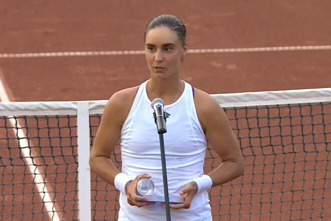 Ангелина КАЛИНИНА: «В финале не смогла показать свой лучший теннис»