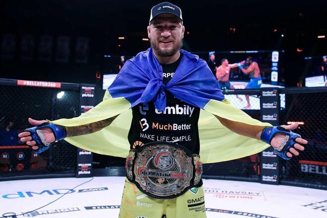 Український чемпіон Амосов в топ-5 рейтингу pound for pound Bellator