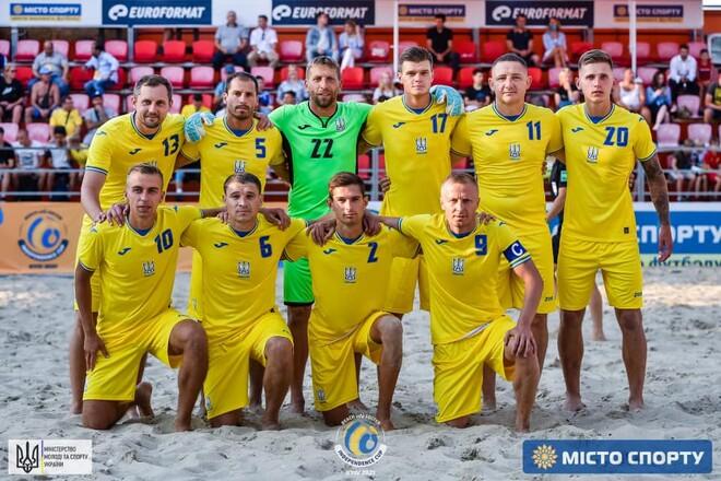 Украина разгромила Турцию на международном турнире по пляжному футболу