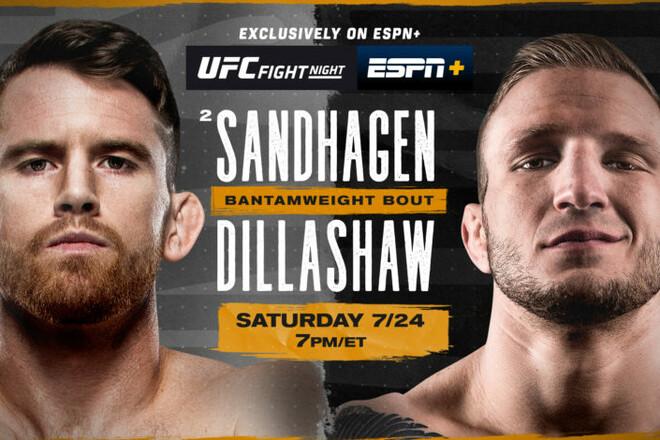 Де дивитися онлайн UFC: Корі Сендхаген – Ті Джей Діллашоу