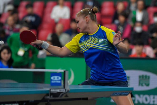 Настільний теніс. Українка поступилася у другому раунді