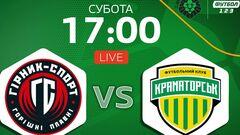 Горняк-Спорт – Краматорск. Смотреть онлайн. LIVE трансляция