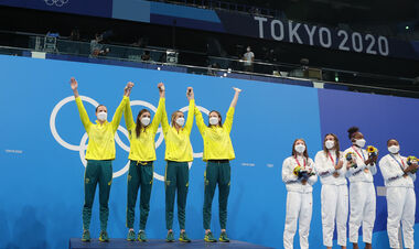 Австралійські плавчині встановили світовий рекорд в естафеті