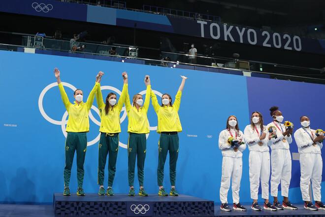 Австралийские пловчихи установили мировой рекорд в эстафете