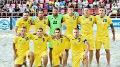Сборная Украины по пляжному футболу стала победителем Кубка Независимости