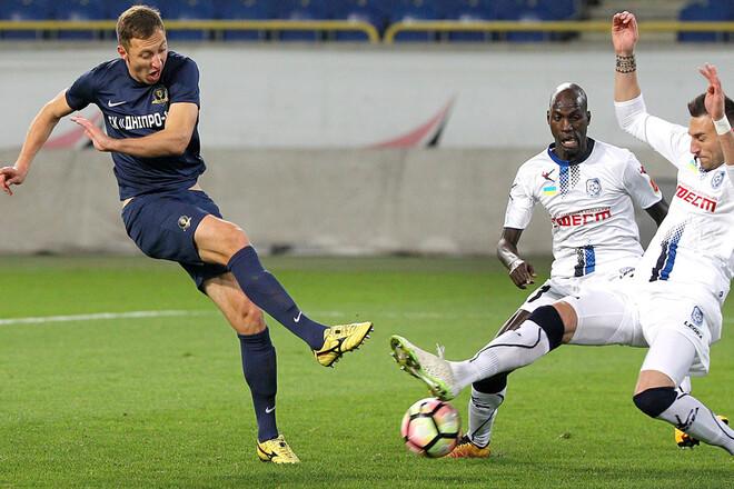 Чорноморець – Дніпро-1 – 0:3. Текстова трансляція матчу