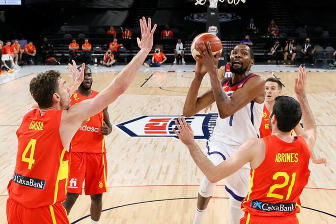 США против Испании. Известны четвертьфиналисты баскетбольного турнира ОИ
