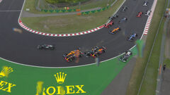 ВИДЕО. Большая авария! Десяток болидов столкнулись на Гран-при Венгрии