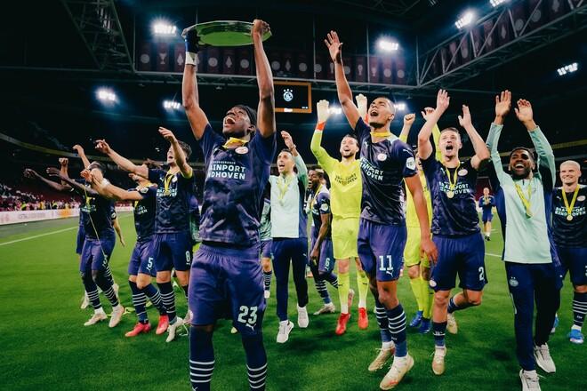 Аякс пропустил 4 гола. ПСВ выиграл матч за Суперкубок Нидерландов