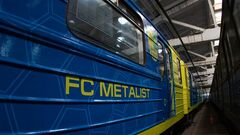 ВИДЕО. Фан-поезд с символикой Металлиста вышел на линию в харьковском метро