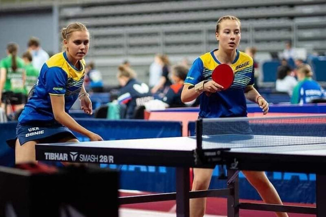 Украинские кадеты произвели фурор на ЧЕ по настольному теннису