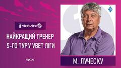 Луческу признан лучшим тренером 5-го тура УПЛ