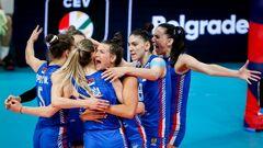 Сербия стала первым финалистом женского чемпионата Европы