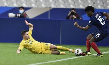 Снова три центральных защитника? Состав Украины на матч с Францией
