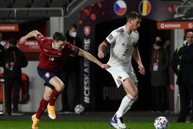 Бельгия - Чехия. Прогноз и анонс на матч отбора ЧМ-2022