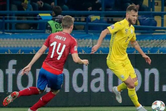 Ничейный рок продолжился в Чехии. Сборная Украины снова упустила победу