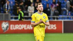 ОФІЦІЙНО. УЄФА порушив справу проти гравця Казахстану, який забивав Україні