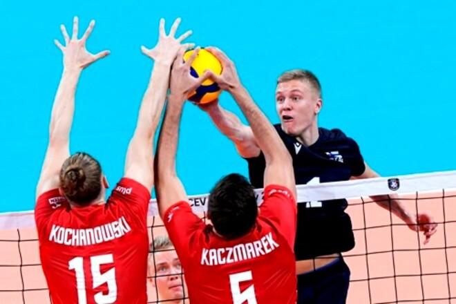 Польша стала вторым четвертьфиналистом мужского чемпионата Европы