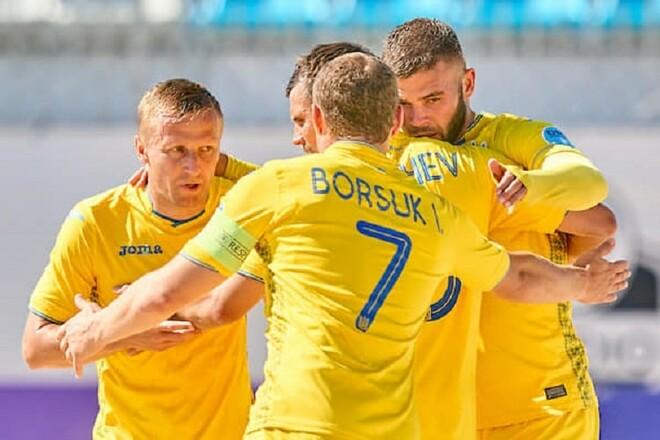 Сборная Украины по пляжному футболу заняла седьмое место в финале Евролиги