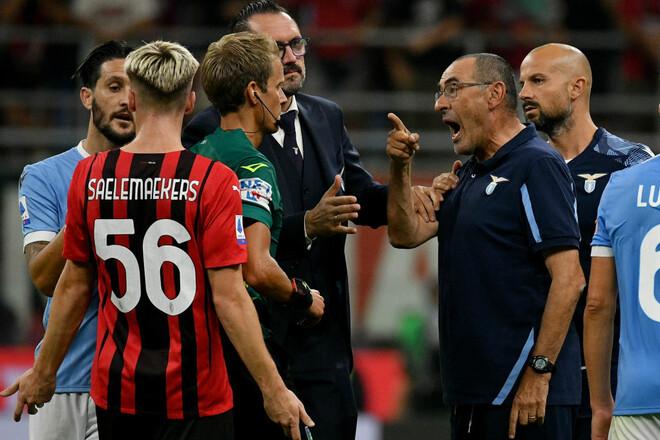 Тренер Лацио Сарри дисквалифицирован на два матча за угрозы и богохульство