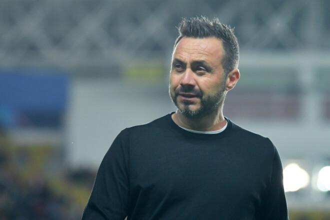 Роберто ДЕ ДЗЕРБІ: «У футболі завжди можна програти. Шахтар стане сильним»