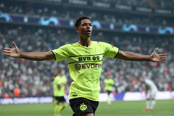 Беллингем стал самым молодым автором гола в истории Лиги чемпионов