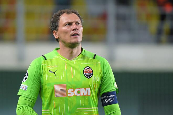 Пятов провел 70-й матч в основном турнире Лиги чемпионов