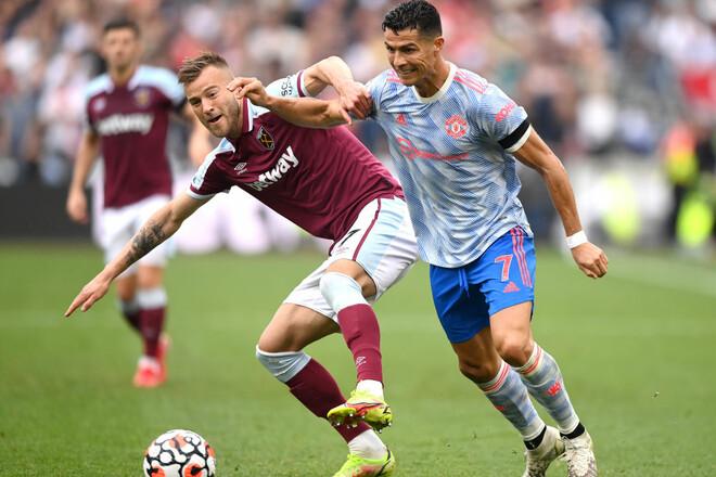 АПЛ. Ярмоленко едва не спас Вест Хэм от поражения от Манчестер Юнайтед