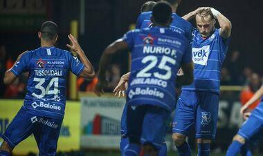 Безус не забил пенальти, и Гент проиграл Кортрейку в Бельгии