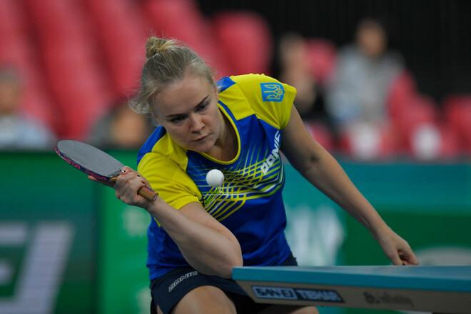 Гапонова дошла до четвертьфинала Europe Top 16 Cup по настольному теннису