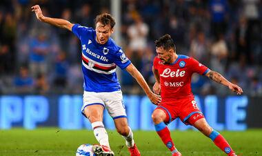 Наполи забил 4 гола Сампдории и без потерь лидирует в Серии A