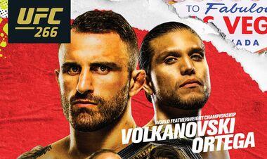 Де дивитися онлайн бій UFC 266: Александр Волкановськи – Брайан Ортега