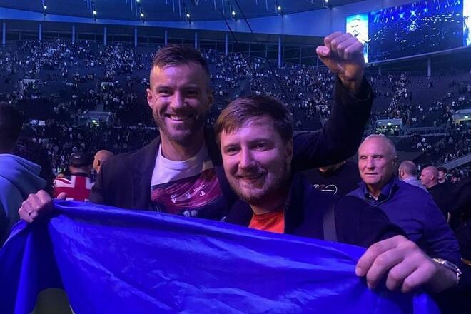 ФОТО. Ярмоленко — Усику: «С победой, чемпион!»
