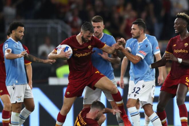 Рома перед матчем против Зари устроила битву с Лацио